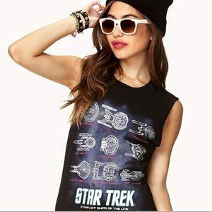 Black Star Trek Starfleet Muscle Tee